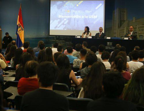 USM da la bienvenida a sus alumnos de primer año en San Joaquín