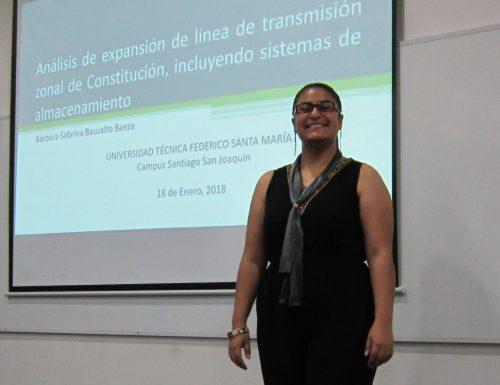 Ingeniería Civil Eléctrica de la USM titula a su primera alumna en San Joaquín