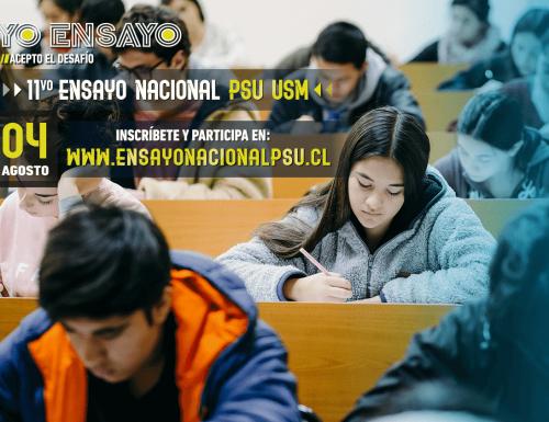 USM realizará multitudinario ensayo PSU en todo el país