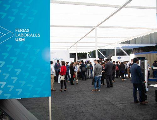 Sansanos se aproximan a su futuro profesional en las primeras Ferias Laborales de la USM