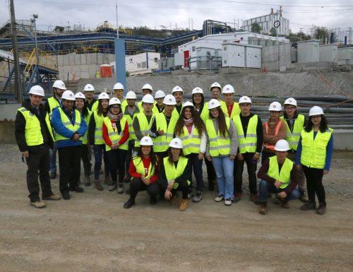 Alumnos DIMA visitaron instalaciones de Minera Valle Central en la VI Región
