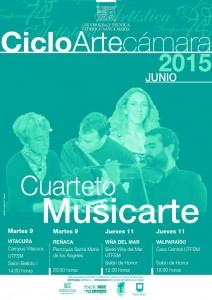 Afiche Cuarteto Musicarte