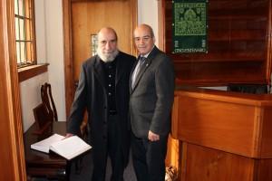 Raul Zurita y Rector Darcy Fuenzalida