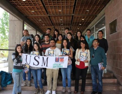Alumnos de la USM Viña del Mar visitan Centro de Estudios Nucleares en la capital