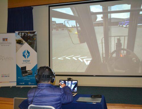USM Viña del Mar realiza clase abierta sobre manejo de grúas a través de simulación virtual
