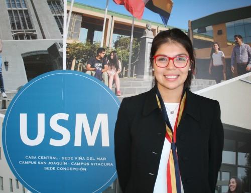 Alumna de USM Viña del Mar participó en actividad estudiantil realizada en el marco de EXPOMIN 2016