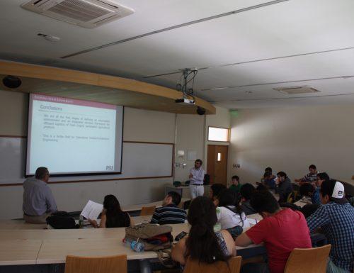Académico de Arizona State University dictó charla a estudiantes de ingeniería civil industrial de la USM
