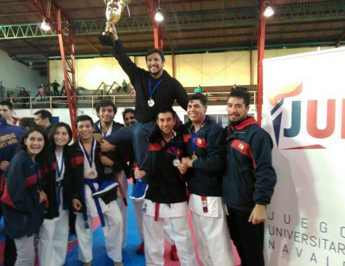 Equipo de karate de la USM se corona campeón en Juegos Deportivos Universitarios Navales 2017