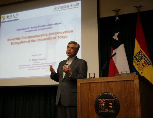 Experto en innovación de la Universidad de Tokio realiza conversatorio en la USM